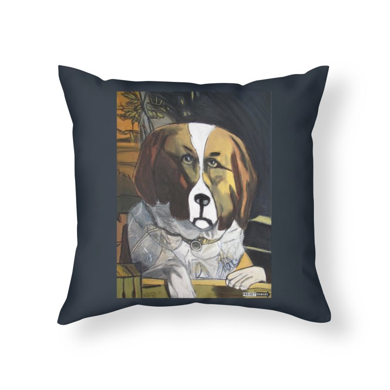 St. Bernard by George Zuniga Home Throw Pillow by Project Onward Merchandise Store