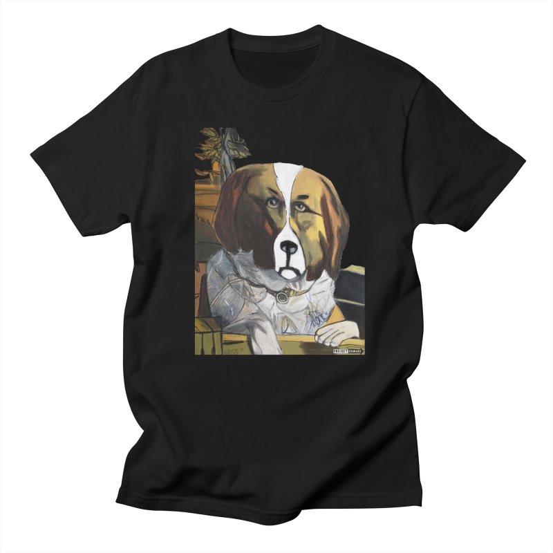St. Bernard by George Zuniga in Men's Regular T-Shirt Black by Project Onward Merchandise Store