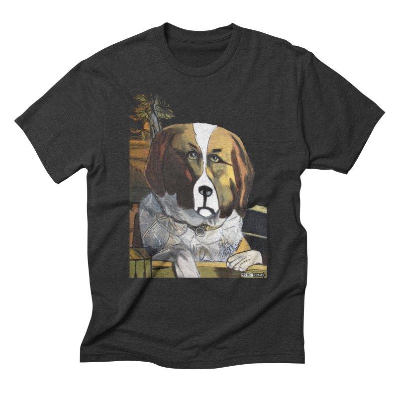 St. Bernard by George Zuniga Men's Triblend T-Shirt by Project Onward Merchandise Store