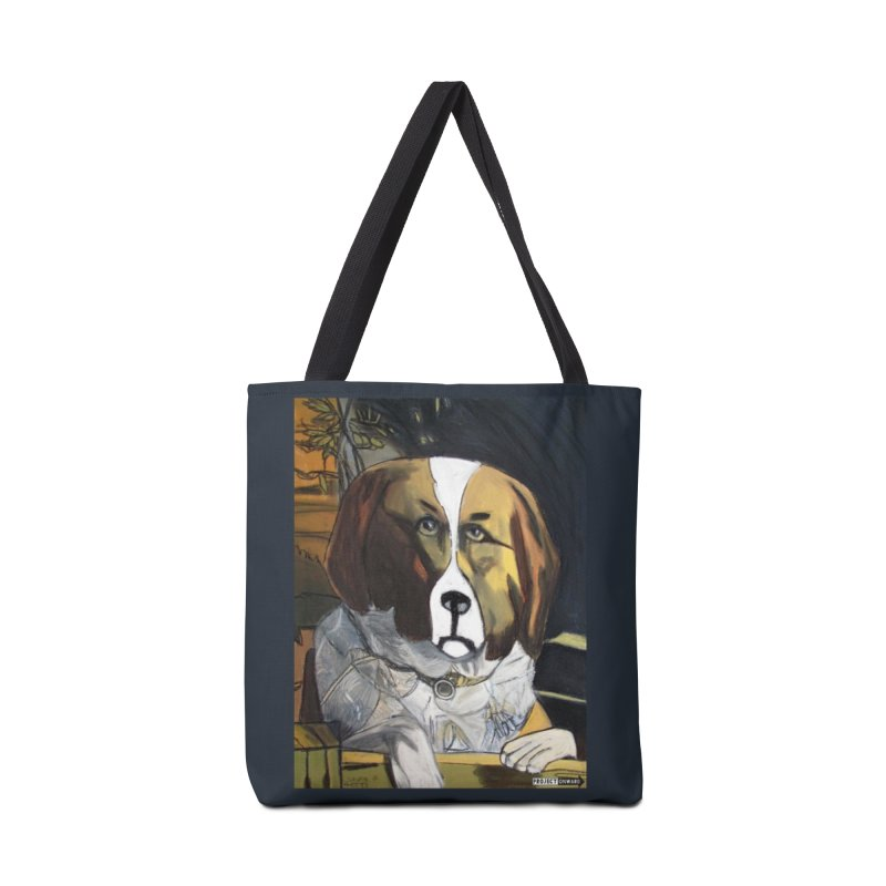 St. Bernard by George Zuniga in Tote Bag by Project Onward Merchandise Store