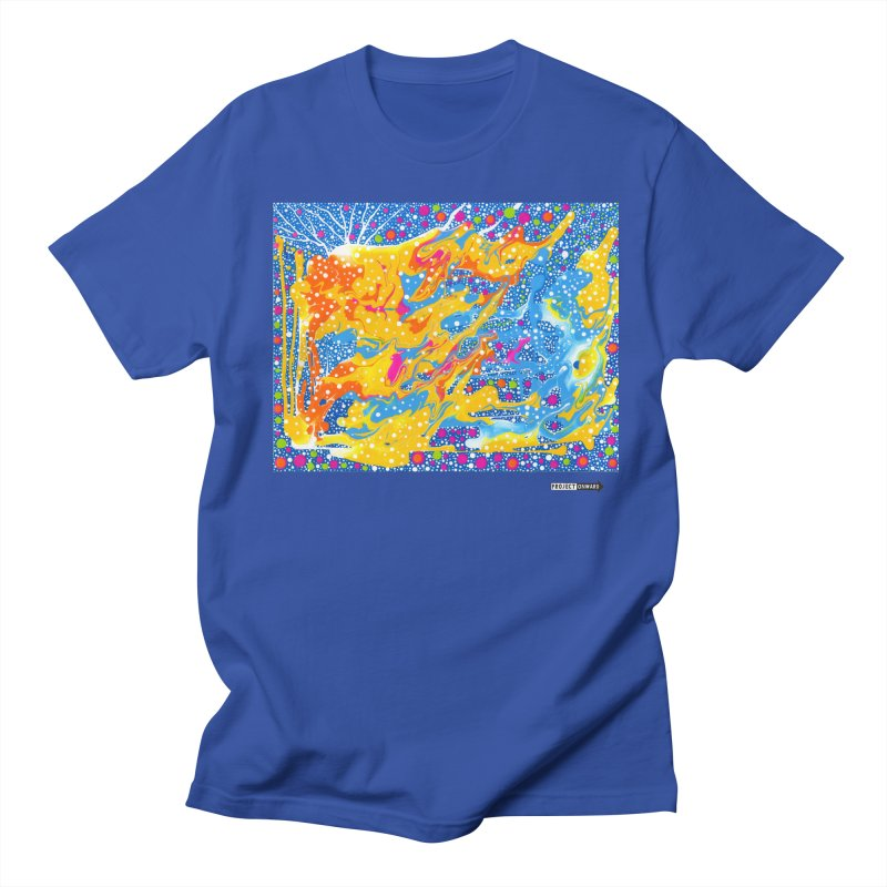 Dot Pool by Sheila Smith in Men's Regular T-Shirt Royal Blue by Project Onward Merchandise Store