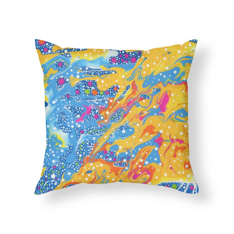 Dot Pool by Sheila Smith Home Throw Pillow by Project Onward Merchandise Store