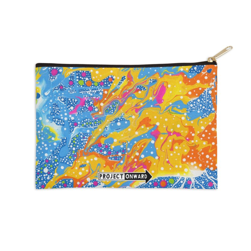 Dot Pool by Sheila Smith in Zip Pouch by Project Onward Merchandise Store