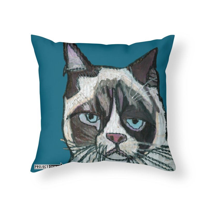 Sass Cat by George Zuniga Home Throw Pillow by Project Onward Merchandise Store