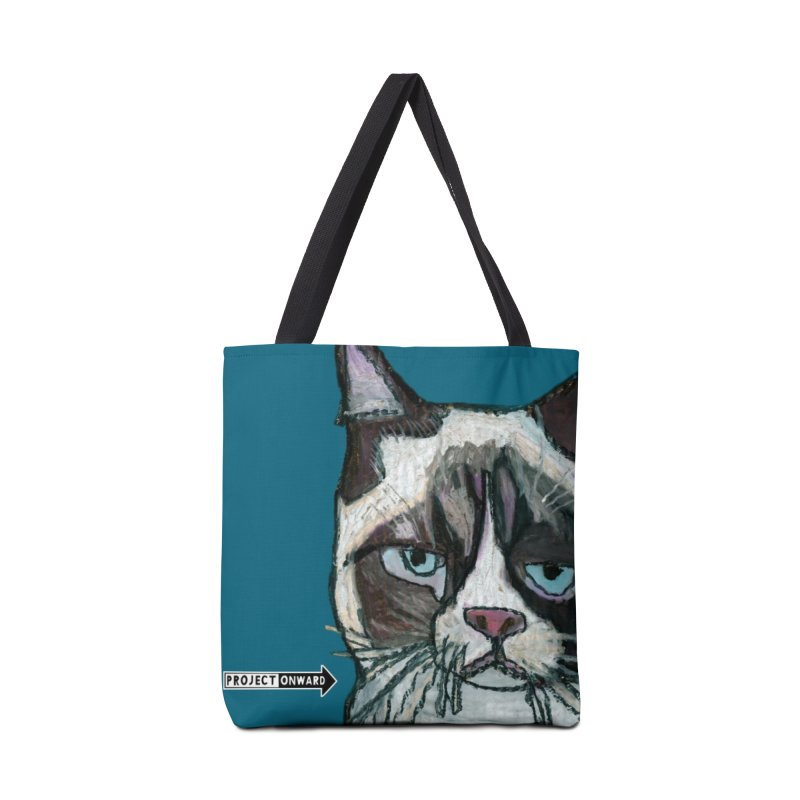 Sass Cat by George Zuniga in Tote Bag by Project Onward Merchandise Store