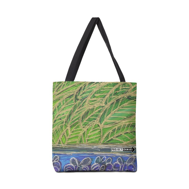Leaves and Butterflies by Safia Hameed in Tote Bag by Project Onward Merchandise Store