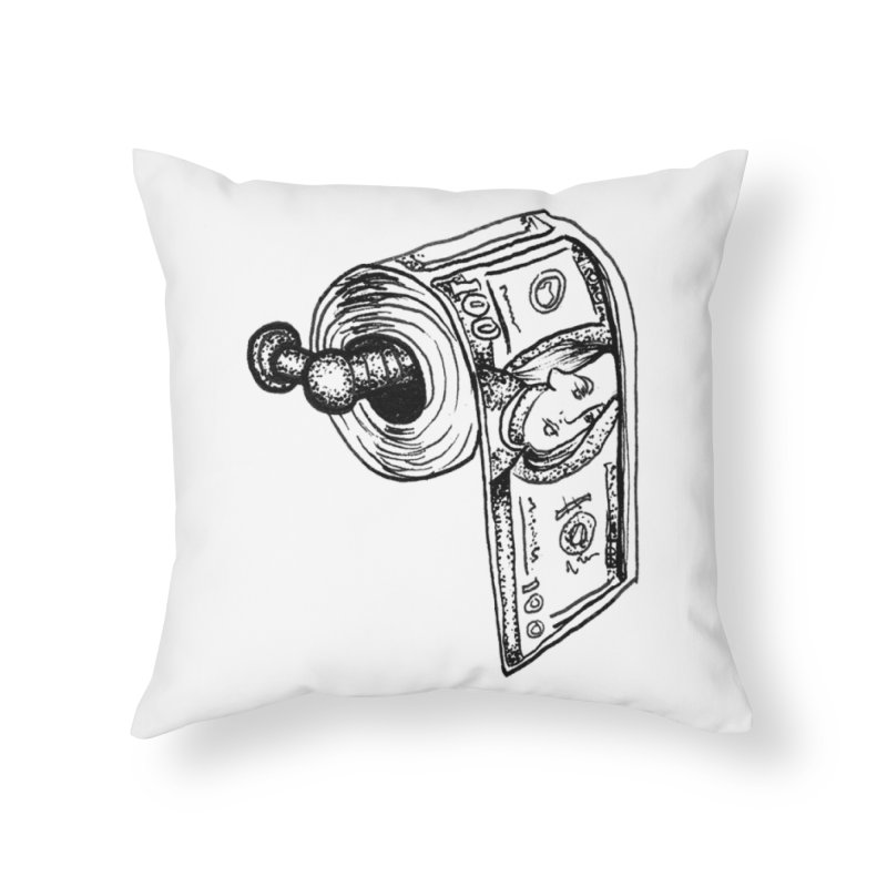 get that paper Home Throw Pillow by prometheatattoos's Artist Shop