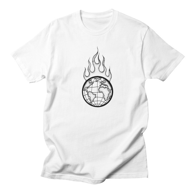 the world is burning Men's T-Shirt by prometheatattoos's Artist Shop