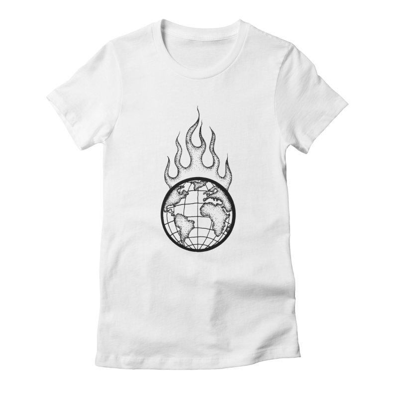 the world is burning Women's T-Shirt by prometheatattoos's Artist Shop
