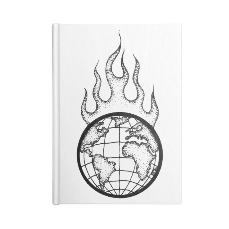 the world is burning Accessories Notebook by prometheatattoos's Artist Shop