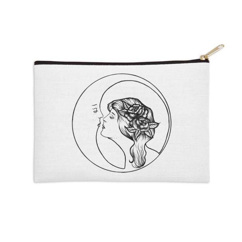 over the moon Accessories Zip Pouch by prometheatattoos's Artist Shop