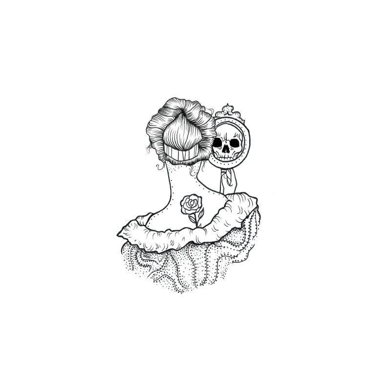 skull mirror Home Throw Pillow by prometheatattoos's Artist Shop