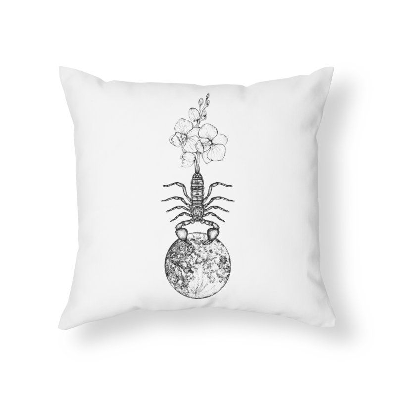 flower moon in scorpio mmxx Home Throw Pillow by prometheatattoos's Artist Shop