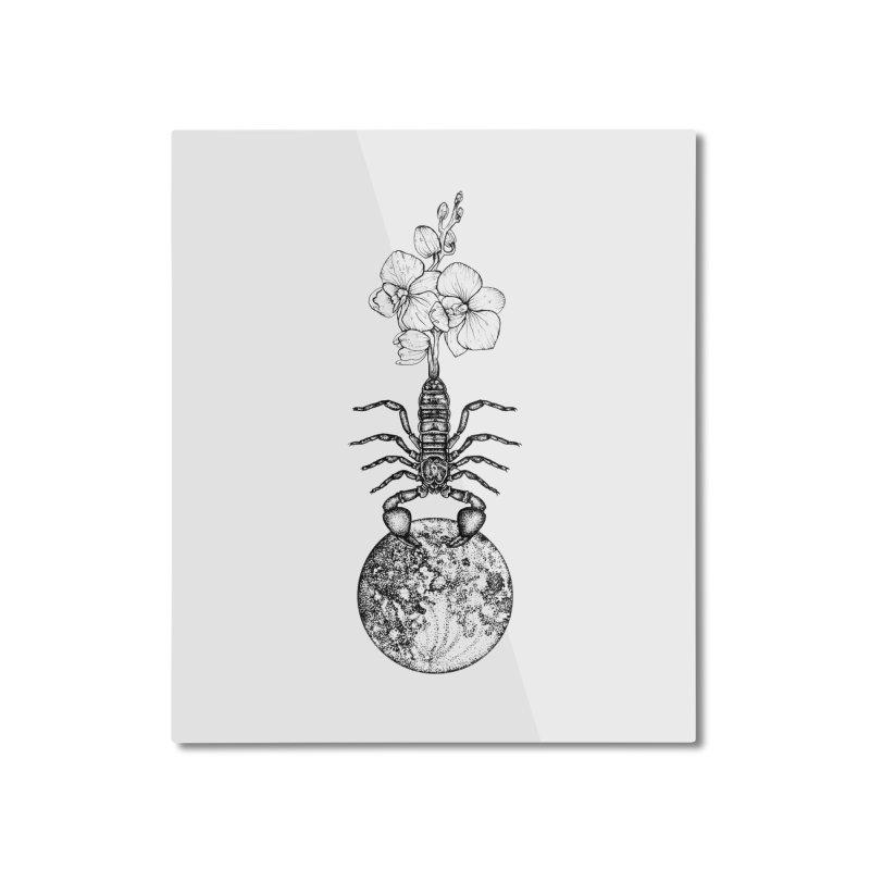 flower moon in scorpio mmxx Home Mounted Aluminum Print by prometheatattoos's Artist Shop