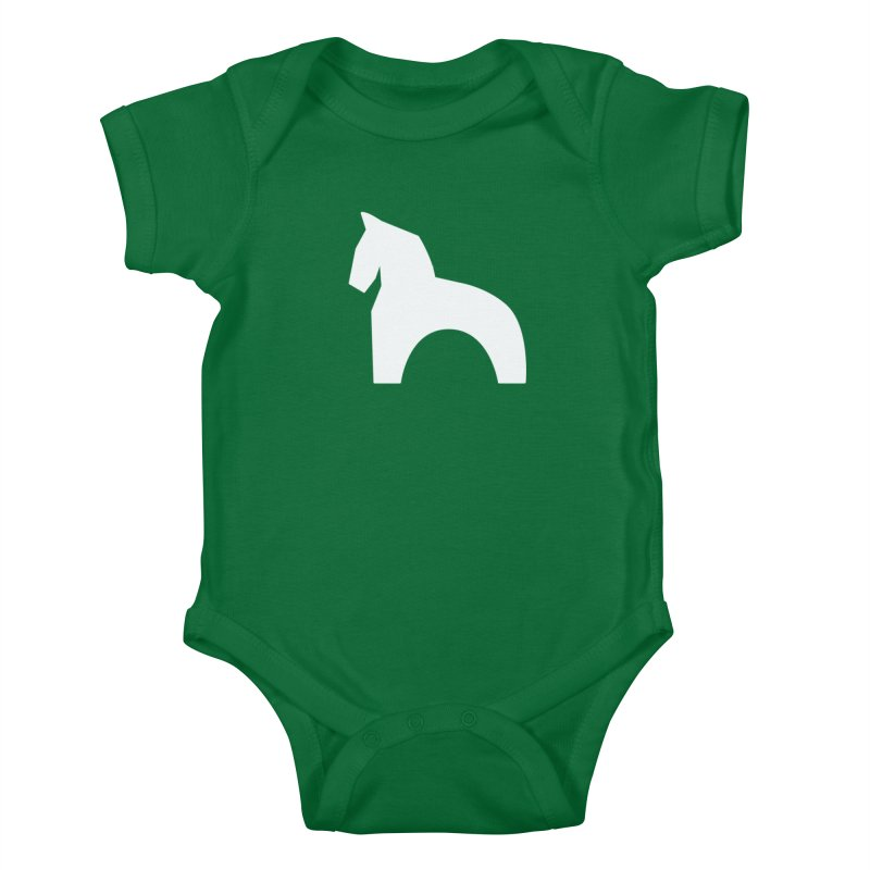 Toy horse (stolyarka.me) _dark Kids Baby Bodysuit by Elefunfunt