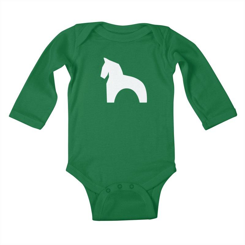 Toy horse (stolyarka.me) _dark Kids Baby Longsleeve Bodysuit by Elefunfunt