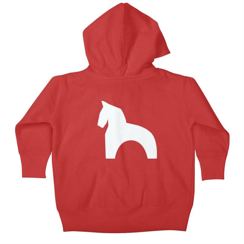 Toy horse (stolyarka.me) _dark Kids Baby Zip-Up Hoody by Elefunfunt