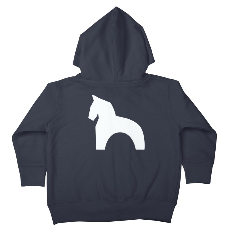 Toy horse (stolyarka.me) _dark Kids Toddler Zip-Up Hoody by Elefunfunt