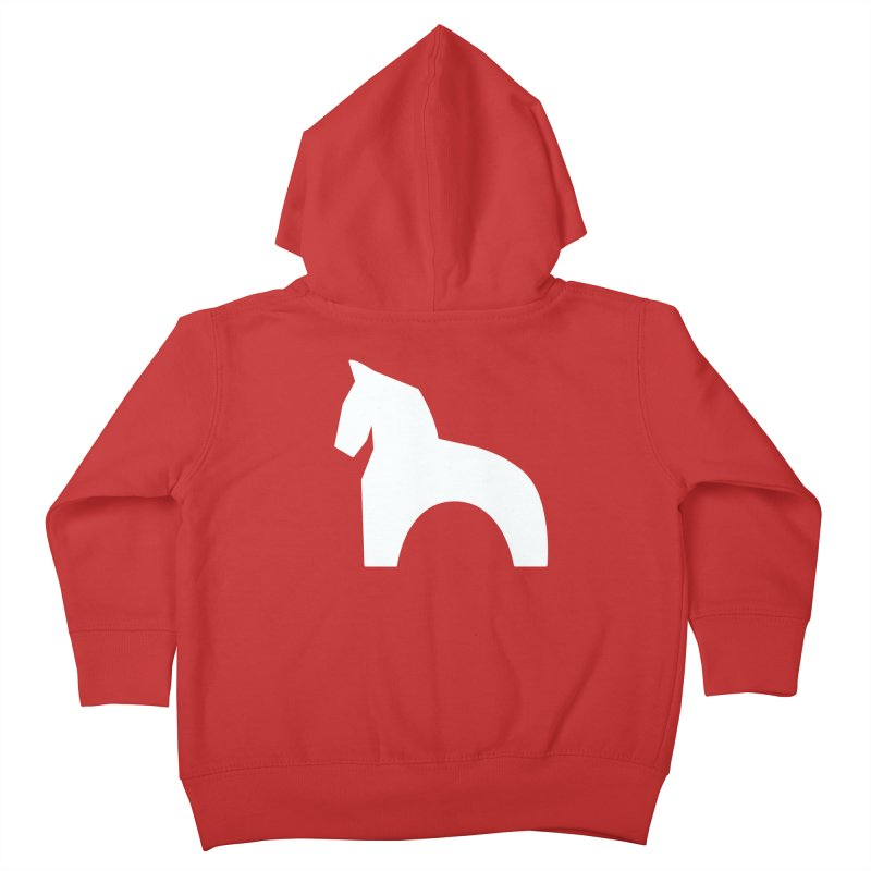 Toy horse (stolyarka.me) _dark Kids Toddler Zip-Up Hoody by Elefunfunt