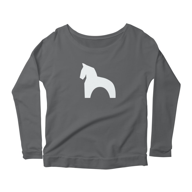 Toy horse (stolyarka.me) _dark Women's Scoop Neck Longsleeve T-Shirt by Elefunfunt