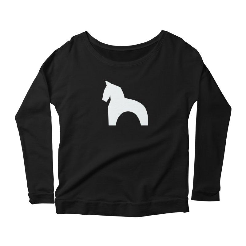 Toy horse (stolyarka.me) _dark Women's Scoop Neck Longsleeve T-Shirt by Elefunfunt