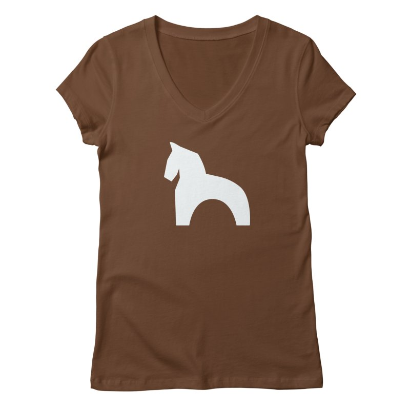 Toy horse (stolyarka.me) _dark Women's V-Neck by Elefunfunt