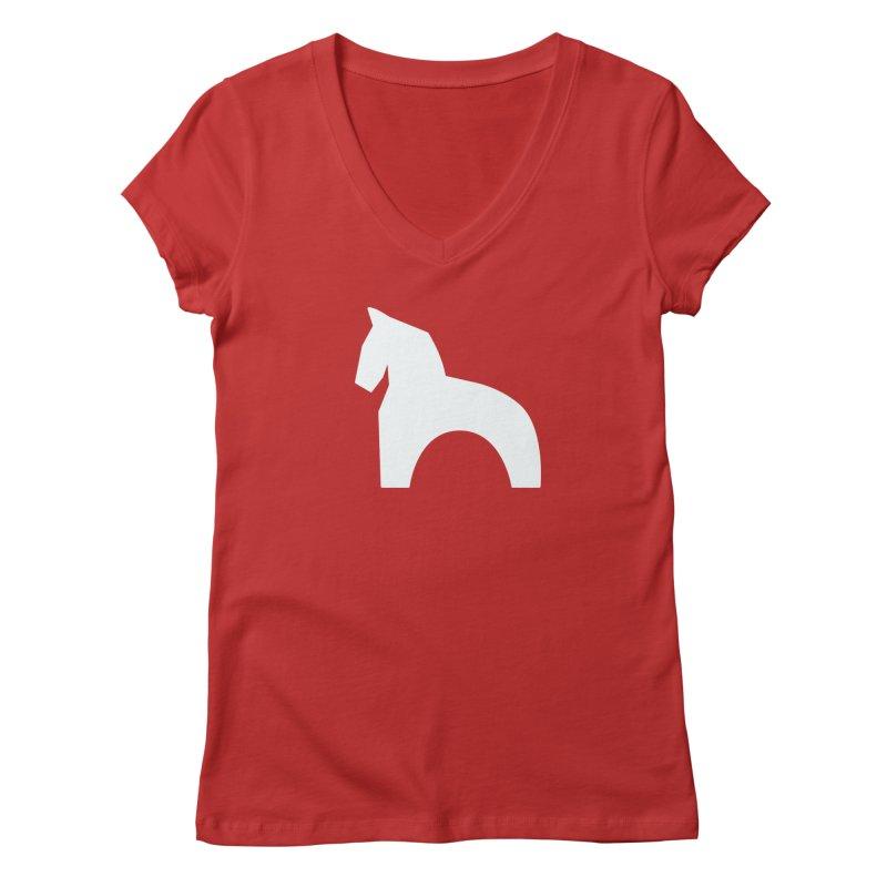 Toy horse (stolyarka.me) _dark Women's Regular V-Neck by Elefunfunt