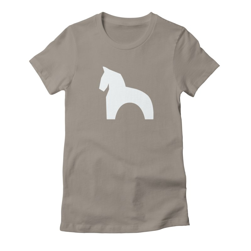 Toy horse (stolyarka.me) _dark Women's Fitted T-Shirt by Elefunfunt