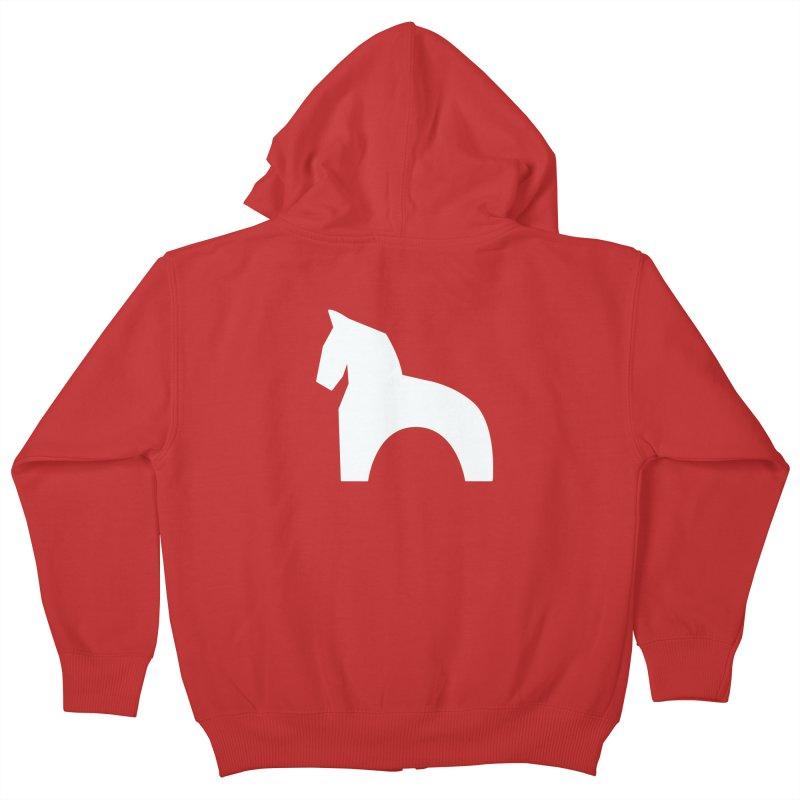 Toy horse (stolyarka.me) _dark Kids Zip-Up Hoody by Elefunfunt