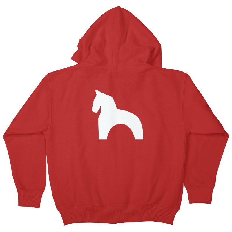 Toy horse (stolyarka.me) _dark Kids Zip-Up Hoody by Elefunfunt