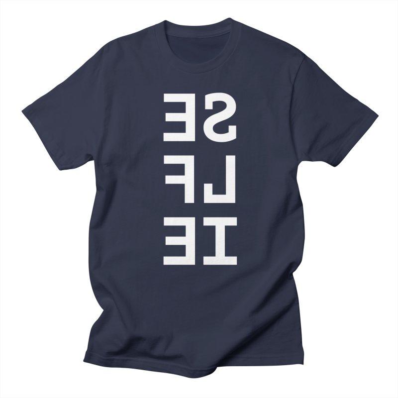 SE LF IE _dark Men's Regular T-Shirt by Elefunfunt