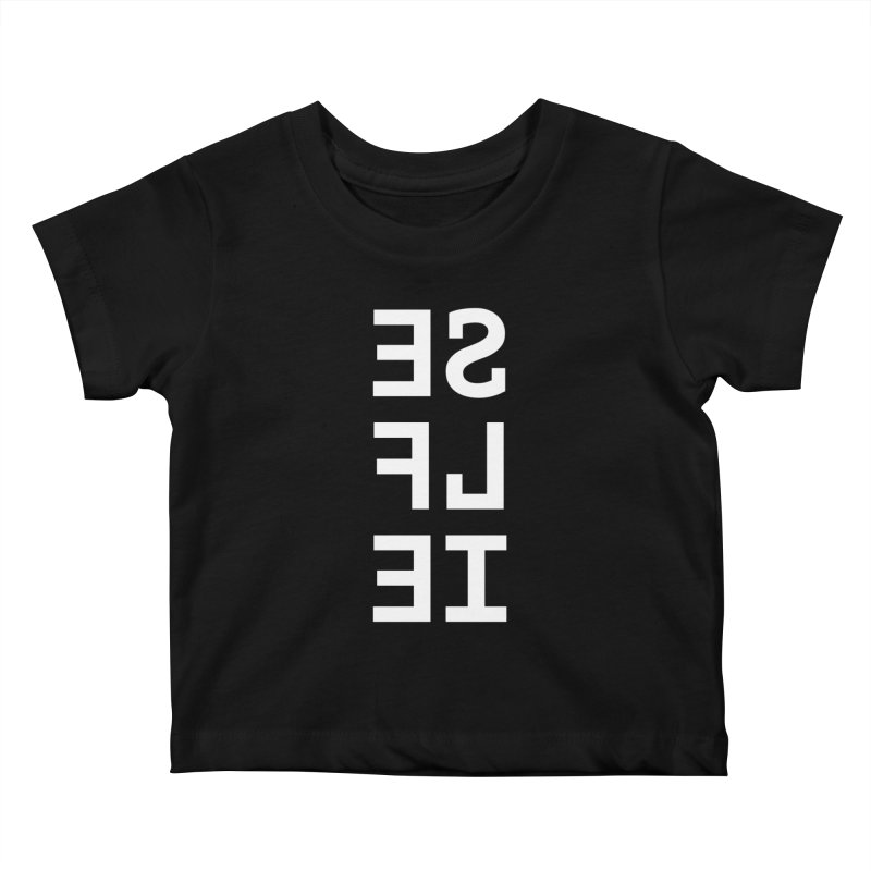 SE LF IE _dark Kids Baby T-Shirt by Elefunfunt