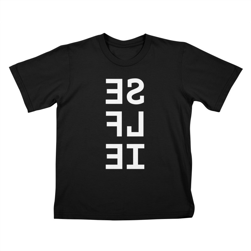SE LF IE _dark Kids T-Shirt by Elefunfunt