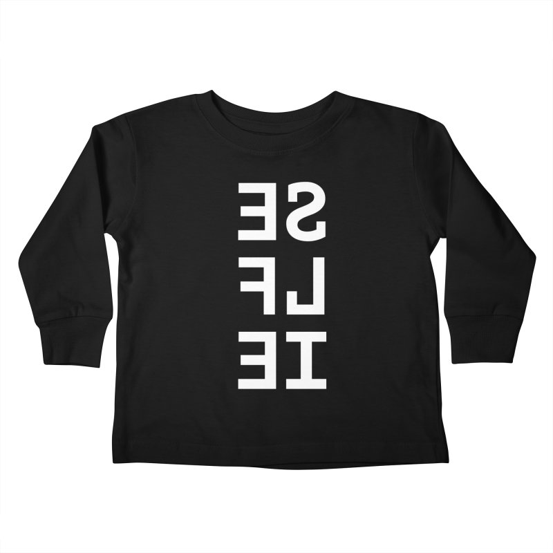SE LF IE _dark Kids Toddler Longsleeve T-Shirt by Elefunfunt