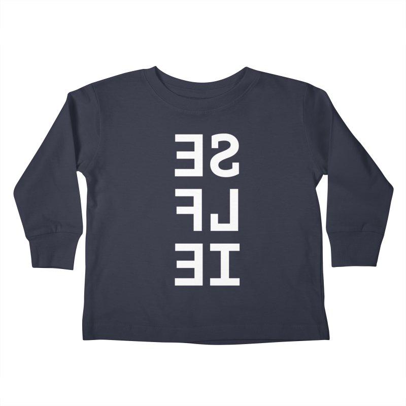 SE LF IE _dark Kids Toddler Longsleeve T-Shirt by Elefunfunt