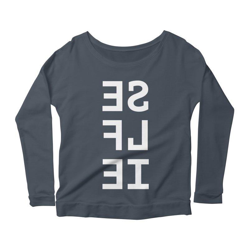 SE LF IE _dark Women's Scoop Neck Longsleeve T-Shirt by Elefunfunt