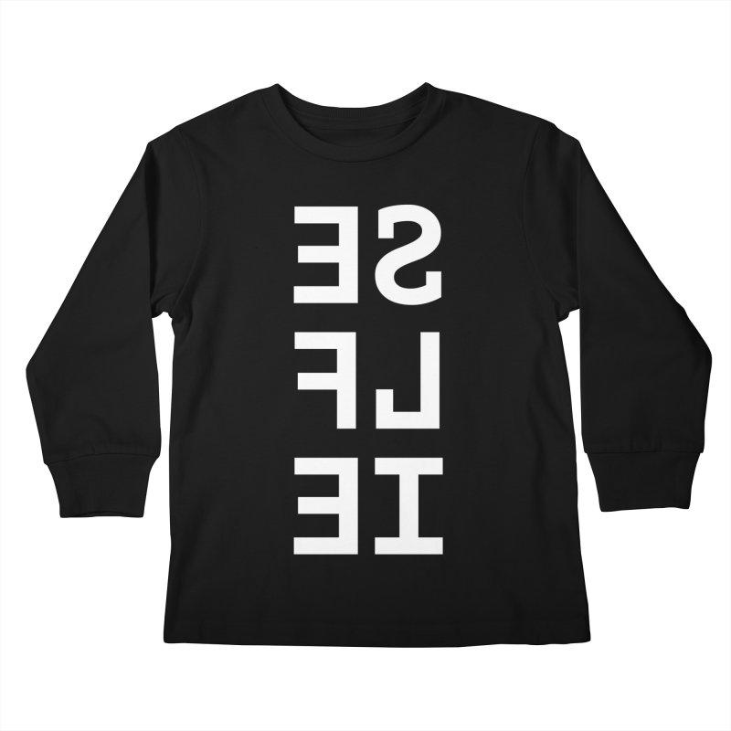 SE LF IE _dark Kids Longsleeve T-Shirt by Elefunfunt