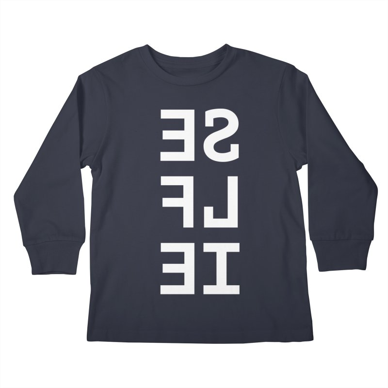 SE LF IE _dark Kids Longsleeve T-Shirt by Elefunfunt