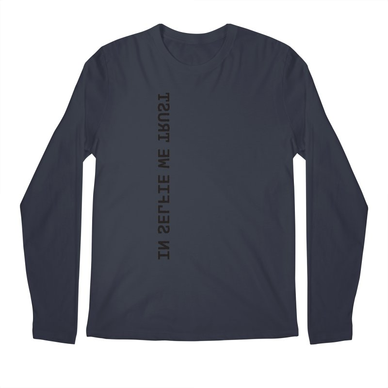 In Selfie We Trust _Zip Men's Regular Longsleeve T-Shirt by Elefunfunt