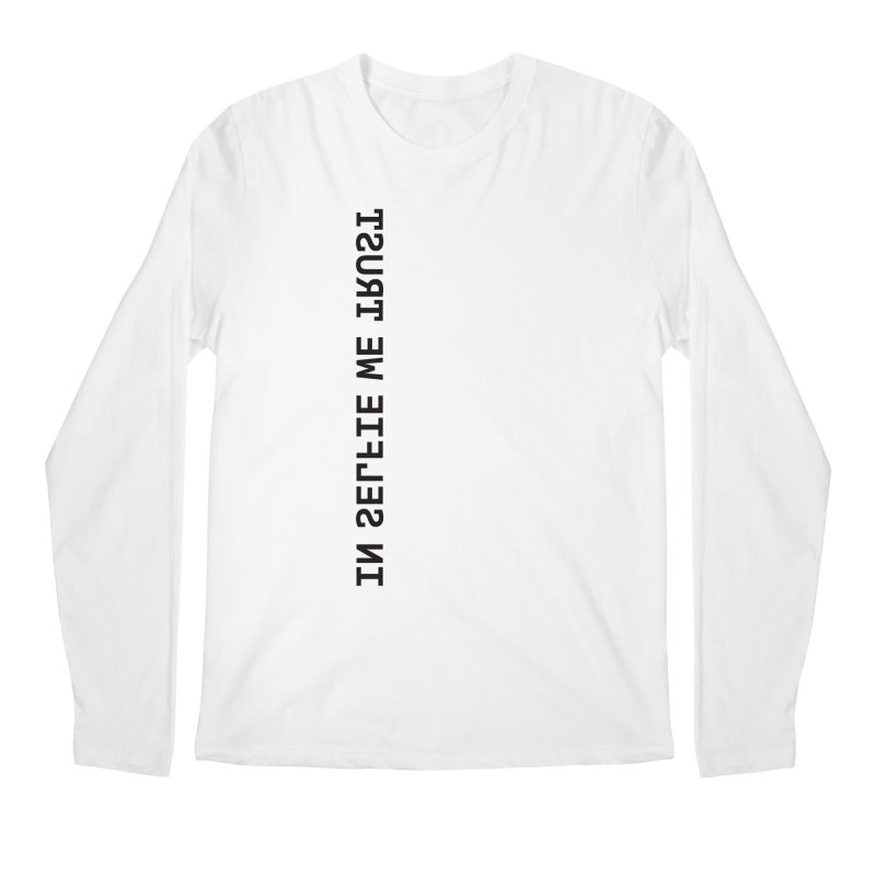 In Selfie We Trust _Zip Men's Longsleeve T-Shirt by Elefunfunt