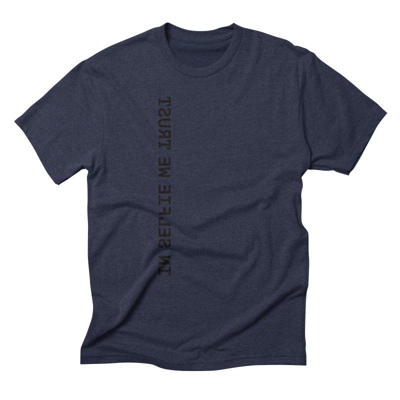 In Selfie We Trust _Zip Men's Triblend T-Shirt by Elefunfunt
