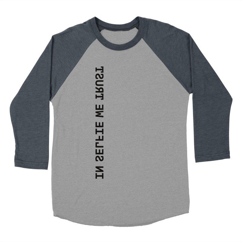 In Selfie We Trust _Zip Women's Baseball Triblend Longsleeve T-Shirt by Elefunfunt