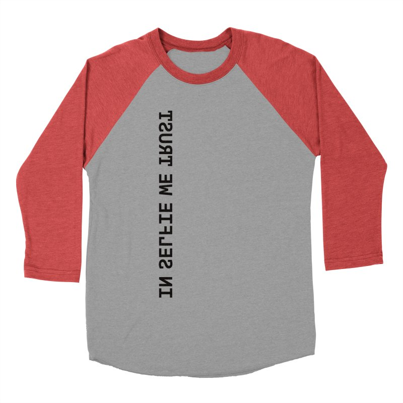 In Selfie We Trust _Zip Men's Baseball Triblend Longsleeve T-Shirt by Elefunfunt