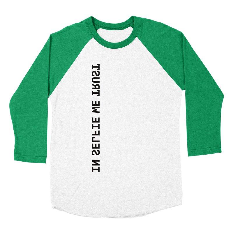 In Selfie We Trust _Zip Men's Baseball Triblend T-Shirt by Elefunfunt