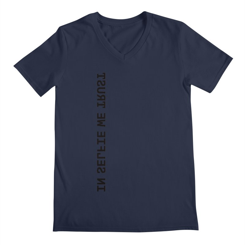 In Selfie We Trust _Zip Men's Regular V-Neck by Elefunfunt