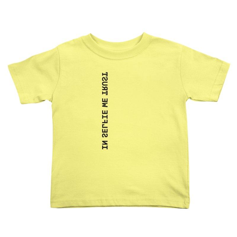 In Selfie We Trust _Zip Kids Toddler T-Shirt by Elefunfunt