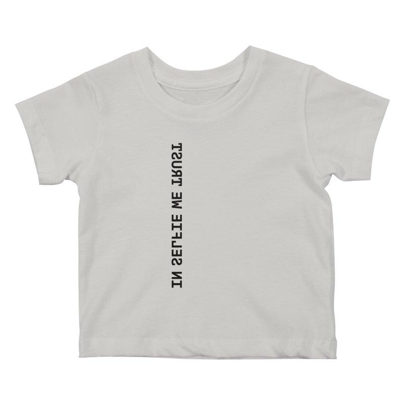In Selfie We Trust _Zip Kids Baby T-Shirt by Elefunfunt
