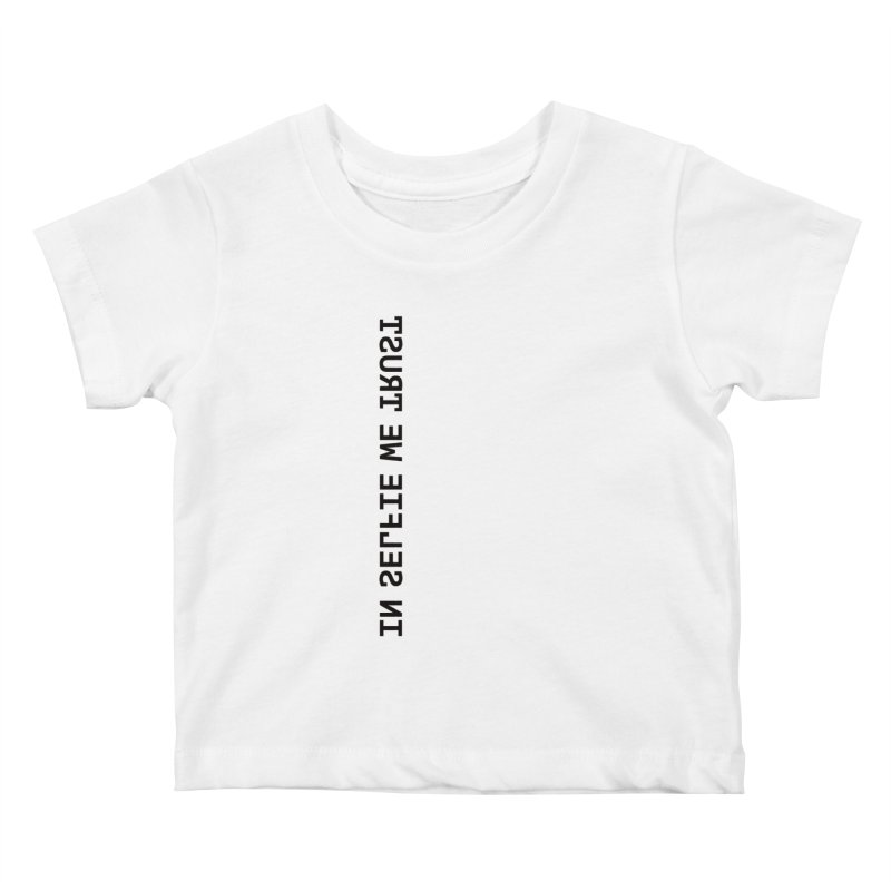 In Selfie We Trust _Zip Kids Baby T-Shirt by Elefunfunt