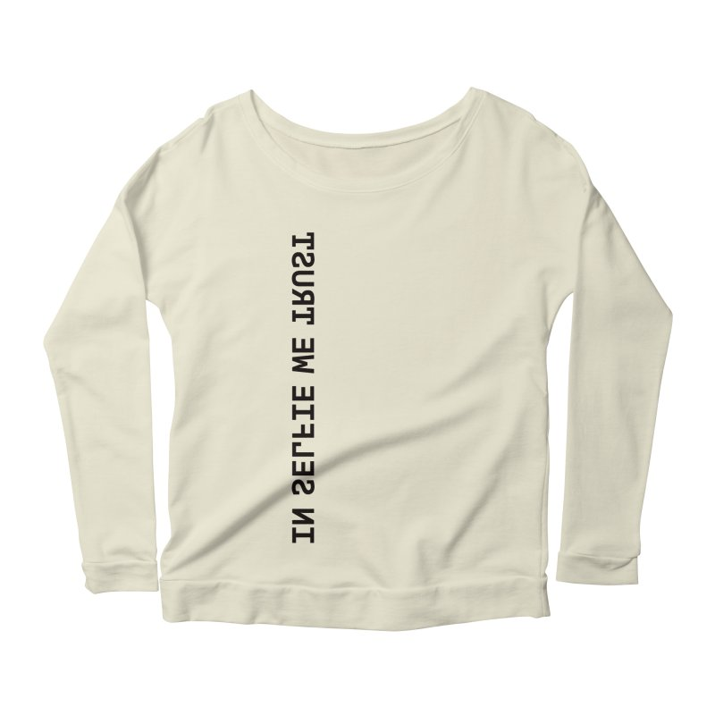 In Selfie We Trust _Zip Women's Longsleeve Scoopneck  by Elefunfunt