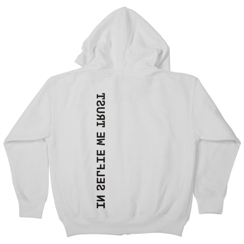 In Selfie We Trust _Zip Kids Zip-Up Hoody by Elefunfunt